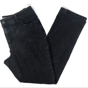 Chico's Short Black Straight Leg Jeans